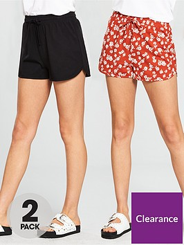 v-by-very-2-pack-shorts-blackprint