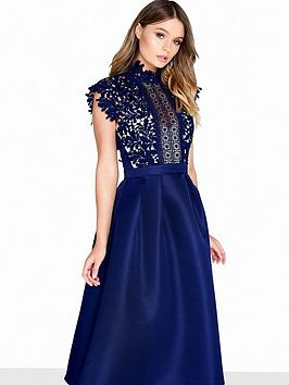 little-mistress-midi-lace-high-neck-dress-navy