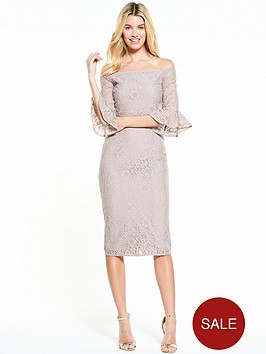 little-mistress-fluted-sleeve-lace-midi-dress