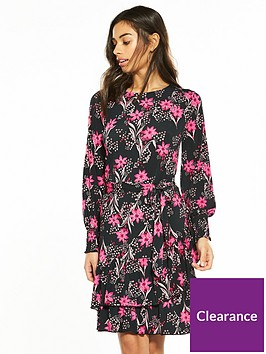 v-by-very-petite-ruffle-hem-jersey-tea-dress--nbspfloral-print