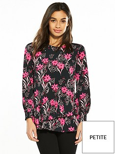 v-by-very-petite-ruffle-hem-jersey-top-floral-print