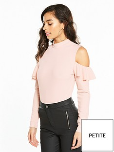 v-by-very-petite-cold-shoulder-ruffle-bodysuit-blush