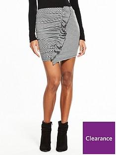v-by-very-check-frill-mini-skirt