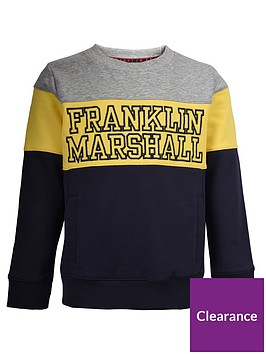 franklin-marshall-boys-colourblock-logo-sweater