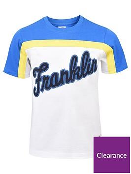 franklin-marshall-boys-logo-colourblock-t-shirt