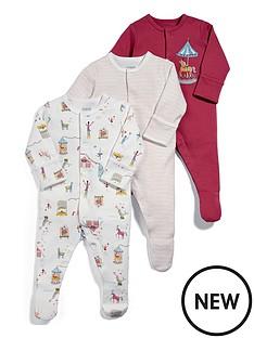 mamas-papas-baby-girls-3-pack-circus-sleepsuits