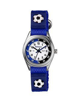 Tikkers Tikkers Tikkers Velcro Strap Football Kids Watch Blue Picture