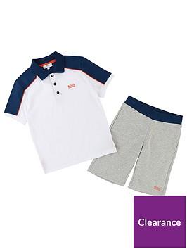 boss-boys-short-sleeve-polo-short-outfit-set