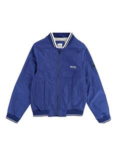 boss-boys-ribbed-trim-bomber-jacket