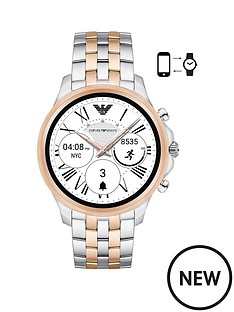 emporio-armani-art5001nbspmensnbspsmartwatchnbspwith-display-screen-and-two-tone-bracelet