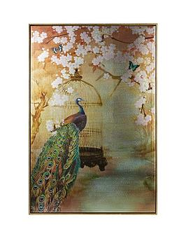 ARTHOUSE Arthouse Suki Peacock Framed Canvas Print Picture
