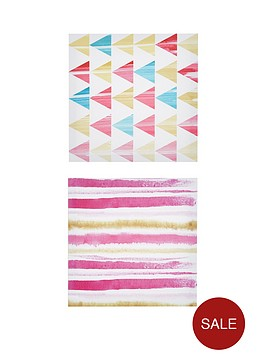 ideal-home-set-of-2-scandi-pattern-wall-art-prints