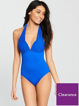 v-by-very-pleated-cup-moulder-halter-neck-swimsuit-ndash-blue