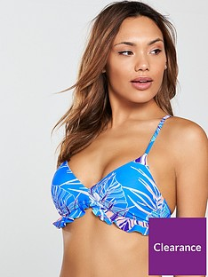 4faaf9d921 V by Very Mix   Match Ruffle Trim Bikini Top