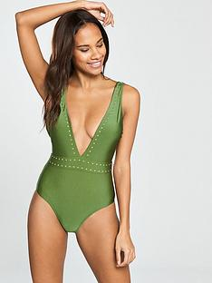 v-by-very-stud-plunge-swimsuit