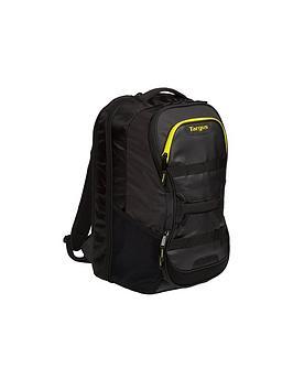 "Targus    Work + Play Fitness 15.6"" Laptop Backpack - Black/Yellow"