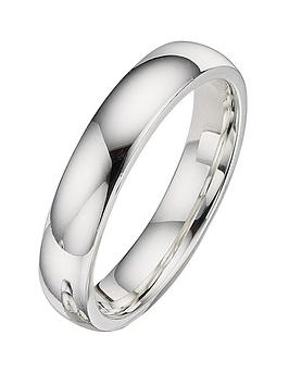 The Love Silver Collection Las 4 Mm Argentium Wedding Band Littlewoods