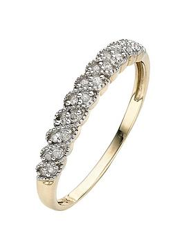 Love DIAMOND Love Diamond 9 Carat Yellow Gold 10Pt Diamond Eternity Ring Picture