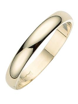 Love GOLD Love Gold 18 Carat Yellow Gold D-Shaped Wedding Band - 3Mm Picture