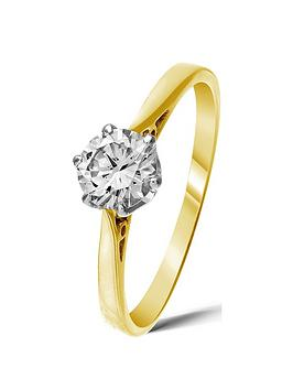 Love DIAMOND Love Diamond 9 Carat Yellow Gold 50 Point Solitaire Ring Picture