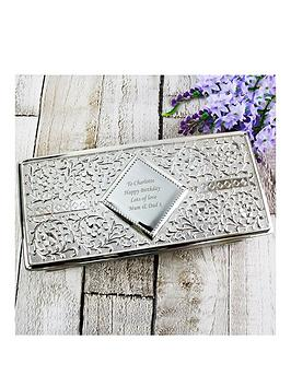 Very Personalised Silver Jewellery Box Picture