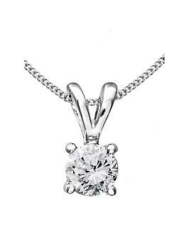 Love DIAMOND Love Diamond 9 Carat White Gold 33 Point Diamond Solitaire  ... Picture