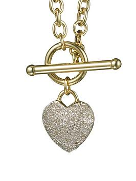 Love DIAMOND Love Diamond 9 Carat Yellow Gold 10Pt Diamond Heart Necklace Picture