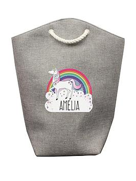 Very Personalised Unicorn Storage Bag Picture