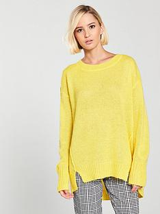 river-island-river-island-mohair-jumper--yellow