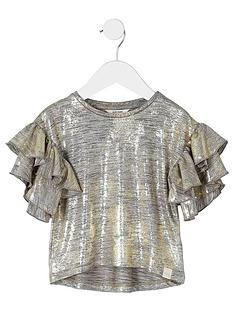 river-island-mini-girls-gold-foil-frill-sleeve-t-shirt