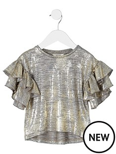 river-island-mini-girls-gold-foil-frill-sleeve-t-shirt
