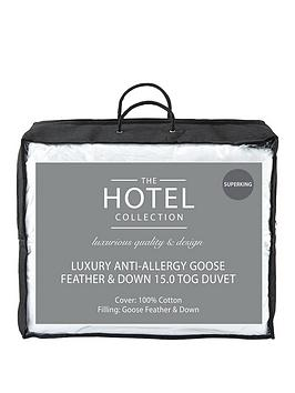 Very Luxury Anti Allergy Goose Feather &Amp; Down 15 Tog Duvet Picture