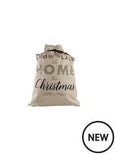 snow-place-like-home-christmas-sack