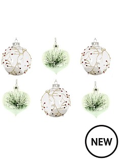 pack-of-6-winter-glass-christmas-tree-hanging-decorations