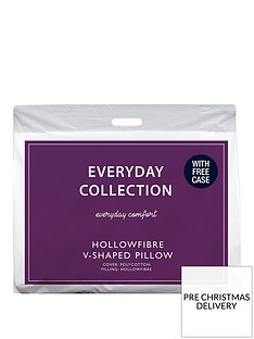 everyday-collection-v-shaped-hollowfibre-support-pillow-with-free-case