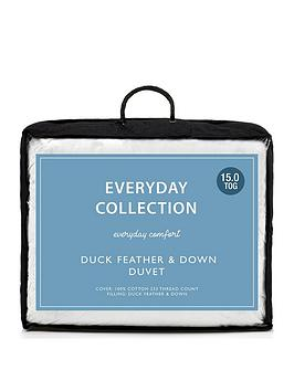 Everyday Collection Everyday Collection Duck Feather And Down 15 Tog Duvet Picture