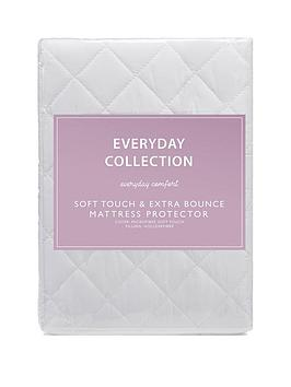everyday-collection-soft-touch-amp-extra-bounce-mattress-protector