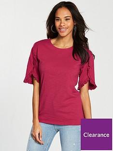 v-by-very-ruffle-sleeve-detail-t-shirt-cherry
