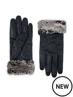 accessorize-faux-fur-trim-leather-gloves