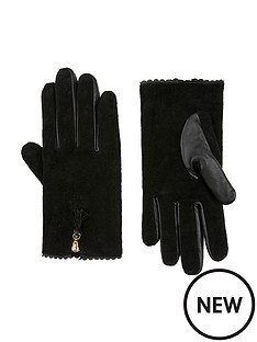 accessorize-zip-tassel-suede-gloves