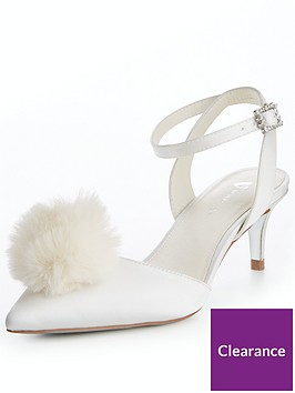 v-by-very-leila-bridal-pom-kitten-heel-ivory