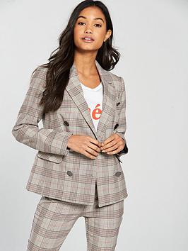 v-by-very-check-double-breasted-fashion-jacket