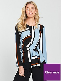 v-by-very-stripe-tie-front-top