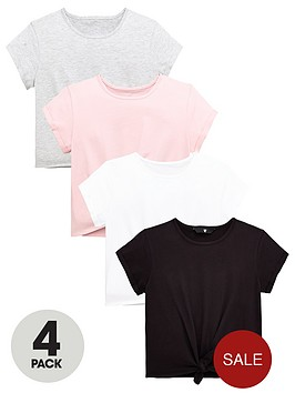 v-by-very-girls-4-pack-tie-front-t-shirts-multiple-colours