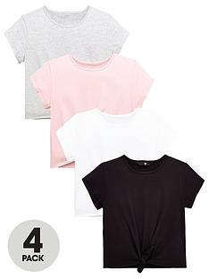 v-by-very-girls-4-pack-tie-front-t-shirts