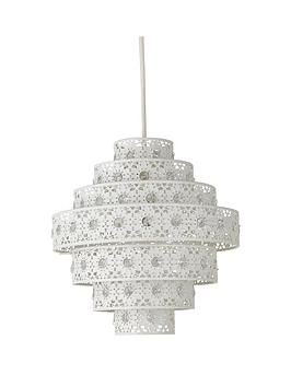 Very Non-Electric 7 Tier Diamante Pendant Picture