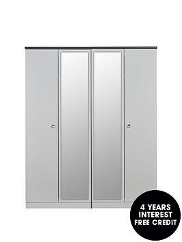 swift-napolinbspready-assembled-4-door-mirrored-wardrobe-5-day-express-deliverynbsp
