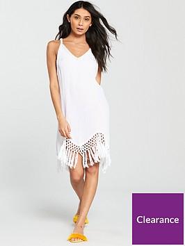 v-by-very-tassel-hem-beach-dress