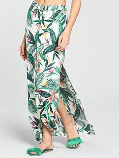 v-by-very-co-ord-button-through-maxi-beach-skirt