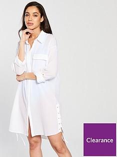 v-by-very-tie-up-side-beach-shirt-white